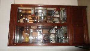 Solid rosewood display china cabinet