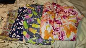 Size large scrubs tops