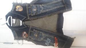 manteau de jeans sans manche  Harley Davidson