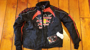 Red bull snowmobile suit