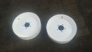 "pair of 16""x3.5"" tractor\ implement rims in excellent condition"