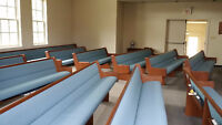 Very Comfortable Chapel Pews - $690 each, buy all 12!
