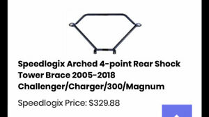 Speedlogix Arched 4 point Rear Shock Tower Brace