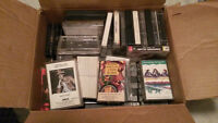 BOX OF CASSETTES 30-50 DIFFERENT