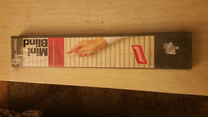 Ivory coloured mini blinds - new, never used