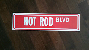 Hot Rod Boulevard aluminum street sign 25 x 7