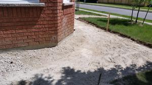 Lay patio stones