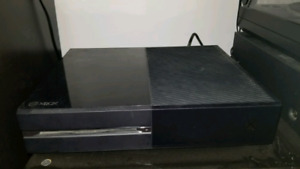 Xbox one with games and 1 controller