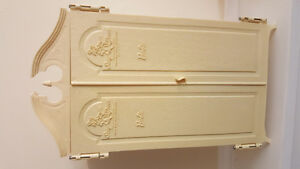 Vintage Barbie Wardrobe with dresser and assessories/clothing.