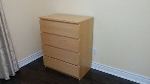 Malm 4 drawer dresser/chest