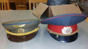 2 Russian USER military uniform hats army? Navy ?
