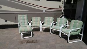 PVC Patio chairs and lounger