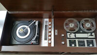 Antique Fleetwood Record Player, Radio and Tape Recorder