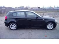 "BMW 1 SERIES 1.6 116i ES 5 DOOR 2007 ""57"" REG 48,000 MILES FACTORY BLACK"