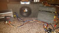 2 Amplifiers 1000watt  sub and a DVD player for car with all wir