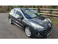 Peugeot 207 1.6HDi 92 FAP ,ALLURE,METALLIC GREY,5 DOOR,SUNROOF,TOP SPEC CAR,
