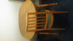 Small dining table and four chairs $30