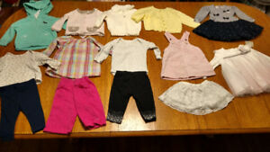 Lot of baby girl winter clothes 6-9 mos