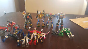 13 vintage mighty morphine power rangers and megazord lot