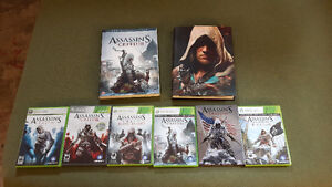 Assassin's creed collection and other games.