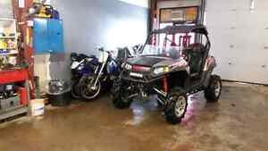 POLARIS RZR S SIDE BY SIDE FOX LIFTED TUNED FMF