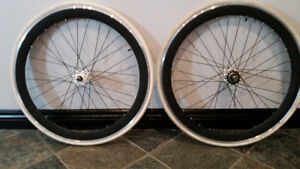 Deep Dish 700c Fixie Wheelset-fixed gear ONLY wheelset $150 OBO