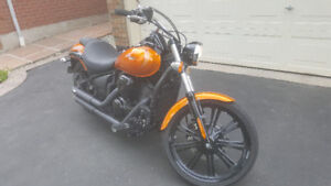 Kawasaki Vulcan Custom with Safety and Saddle bags low km
