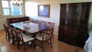 New Travis Court & JB Van Sciver Mahogany Dining Room Set