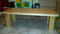 solid handcrafted Douglas fir hallway bench/table