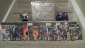 ** Limited Edition Crystal Xbox Bundle 2 Controllers 17 Games **