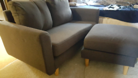 2 Seat Sofa with Footstool