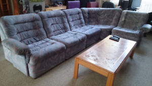Couch: Beautiful Danish modular sectional (5 pieces)