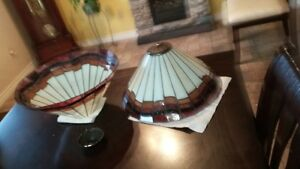Stained glass tiffany style lamp shades