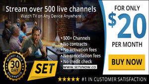 500+ Channels, $25 a Month.  Switch to Set TV Canada