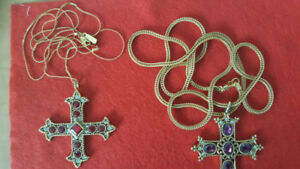 VINTAGE VENDOME CROSS NECKLACE