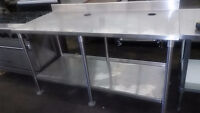 Stainless Steel Work Tables with Undershelf - Lots in Stock