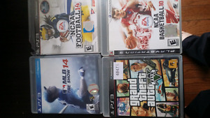 Ps3 with 7 games.