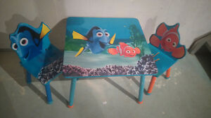 Child's Table and Chairs - Finding Nemo