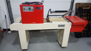 L bar sealer with heat tunel