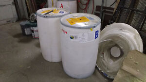 55 gallon drums with removable lids!