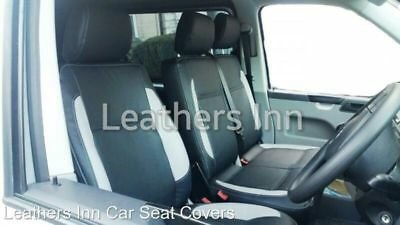 VW TRANSPORTER T5 Single /& Double Leatherette Seat Covers Discounted 2004-2015
