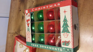 Vintage Christmas Bulbs Still in boxes
