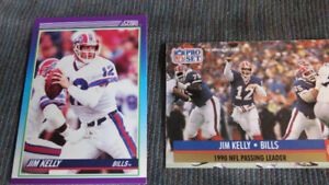 Jim Kelly NFL cards(2)