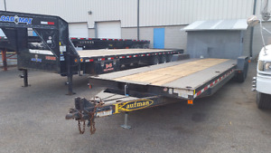 2008 Kaufman 32' double car trailer