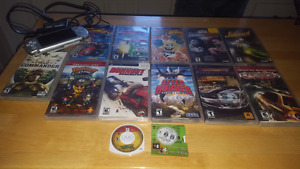 STILl AVAILABLE: PSP  2 nd generation with 12  games and movie