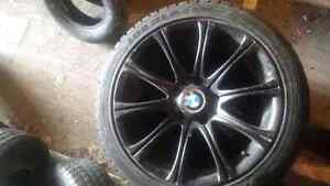 4 BMW Rims with 4 winter tires