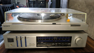 Vintage Sony Record Player & JVC Stereo Receiver