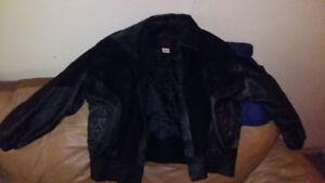Ladies leather and suede jacket