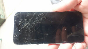 I phone 5s unlocked screen needs to be replaced. 80 obo