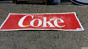VERY LARGE, 8 FEET COCA COLA DEALER SIGN;